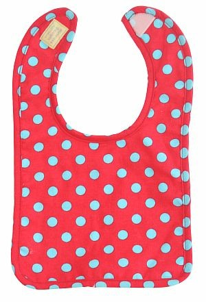Bib-AlimRose Design-Red with Blue Polka-N6063RB.jpg